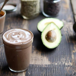Chocolatey Avocado Smoothie with Coconut and Crunch Cacao Nibs