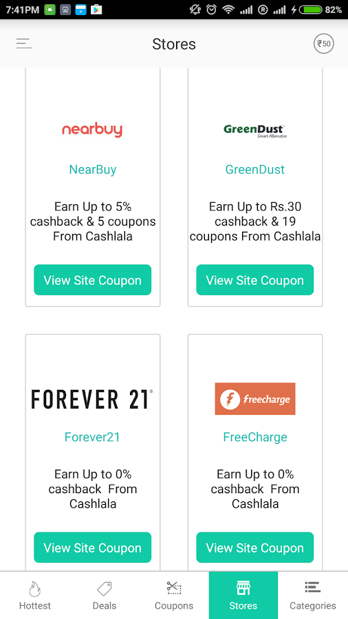 CashLaLa Cashback Deals Coupon- screenshot