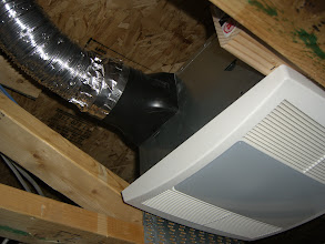 Photo: Just in case it gets hot I put a 110CFM fan in there.
