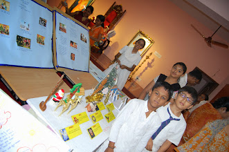 Photo: A group of Balvikas explaining the significance of Christmas and Various other festivals of different religions.