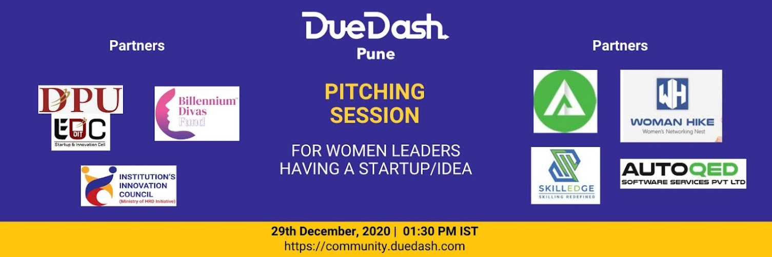 Pitching Session for Women Leaders having a Startup / Idea