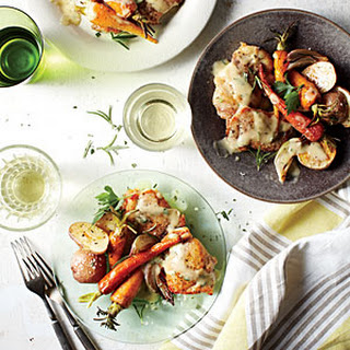 Chicken with Mustard-White Wine Sauce and Spring Vegetables