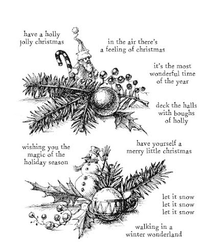 Tim Holtz Cling Stamps 7X8.5 - Cozy Christmas CMS444