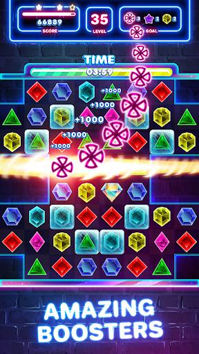 Jewels Quest 2 - Glowing Match 3 1.0.0 screenshots 5
