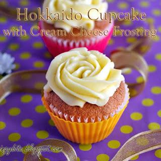 Hokkaido Cupcake with Cream Cheese Frosting.