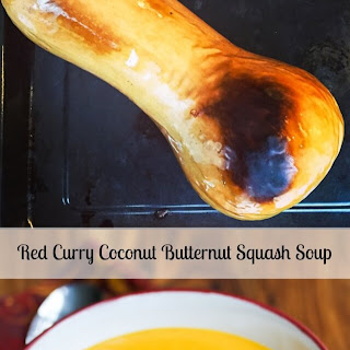 Creamy Red Curry Coconut Butternut Soup.