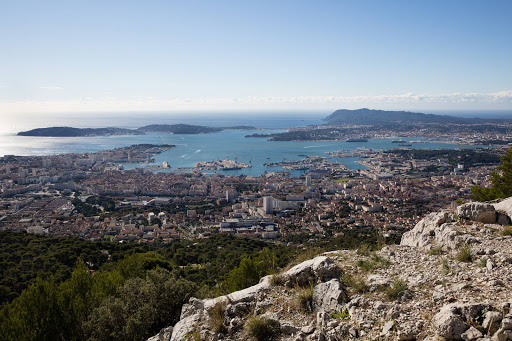 The view from Mont Faron above Toulon, France.