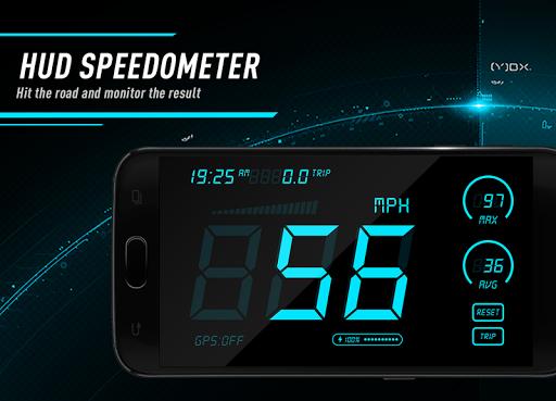 Hud Speedometer - Car Speed Limit App with GPS 1.3 screenshots 1