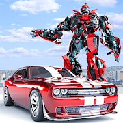 Muscle Car Robot - Transforming Robot Car Games