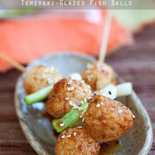 Teriyaki-Glazed Fish Balls.