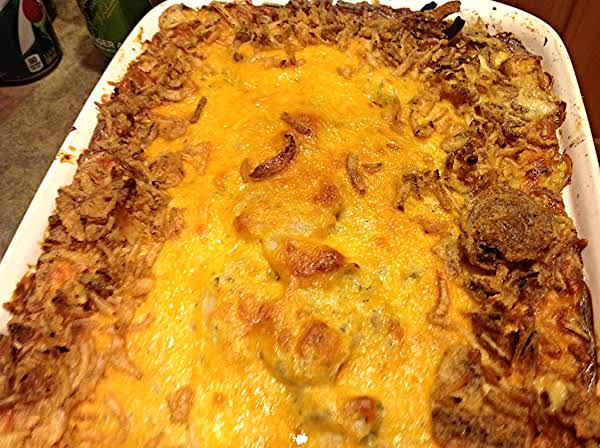Scalloped Potatoes With Feta & French Fried Onions Recipe