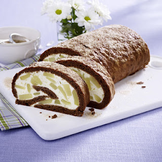 Pear and Chocolate Swiss Roll