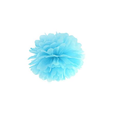 Pom pom - himmelsblå 25 cm