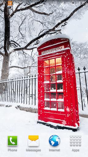 ロンドンの雪ライブ壁紙