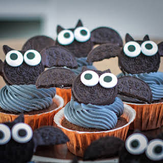 Black Velvet Halloween Cupcakes.