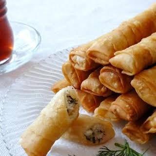 Sigara börek.. (Fried Pastry with feta cheese).