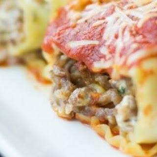 Sausage, Spinach & Cream Cheese Lasagna Rolls Recipe