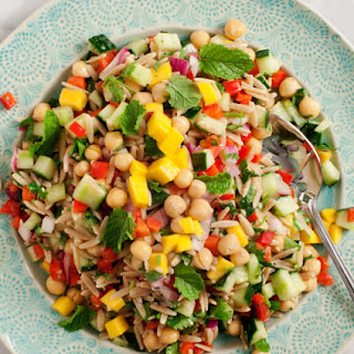 Mango & Red Pepper Orzo Salad
