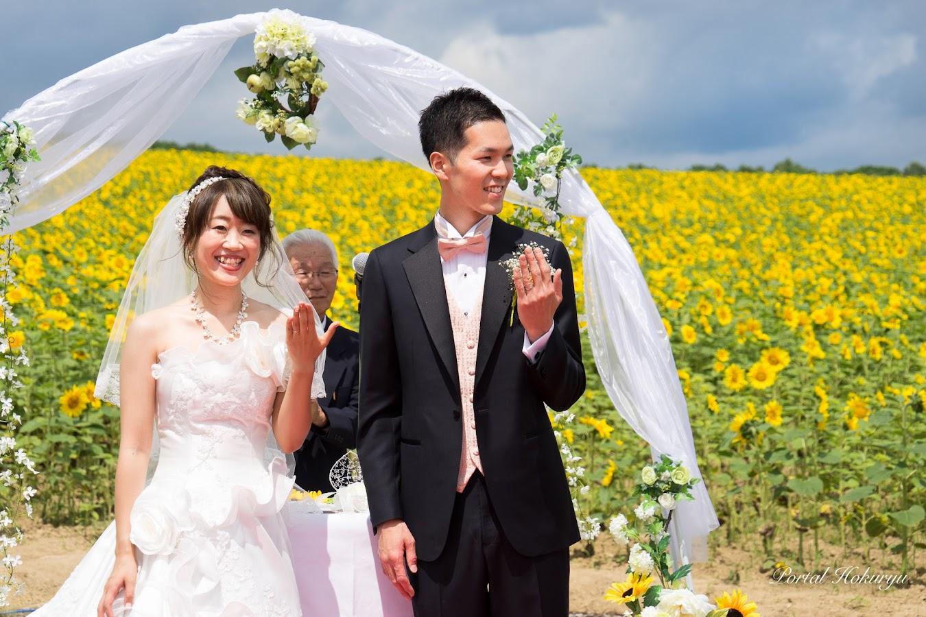結婚指輪の交換(撮影:2017年7月29日)