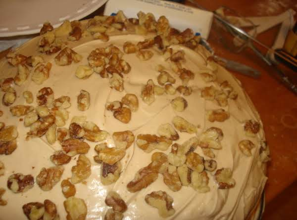 Maple Nut Cake W/ Maple Cream Cheese Frosting Recipe