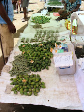 Photo: Buai (betelnut) and daka (pepper vine fruit)