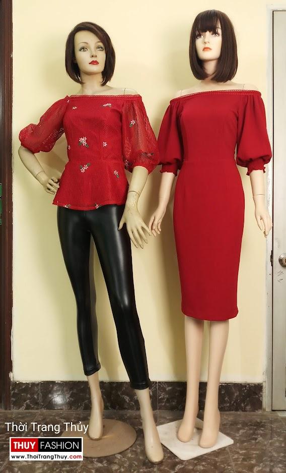 Váy áo tay bồng nữ tính và quyến rũ V669 tại hải phòng