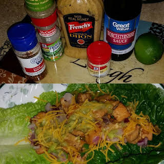 Asian Chicken Salad Lettuce Wraps.