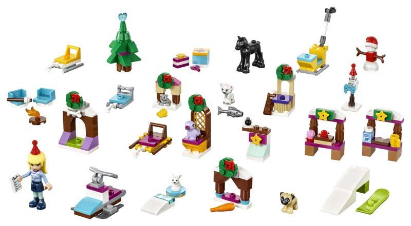 Contenido de Lego® 41326 Calendario de Adviento Lego Friends