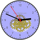 HoverClock analog vector clock