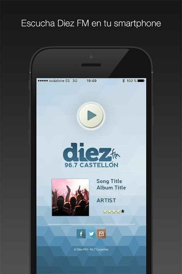 Diez FM Radio- screenshot