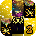 Gold Glitter ButterFly Piano Tiles 2018 1.6