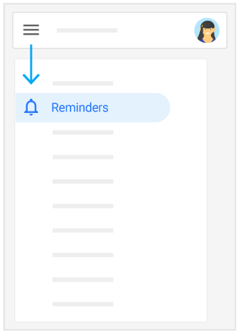 Find Reminders by selecting Menu