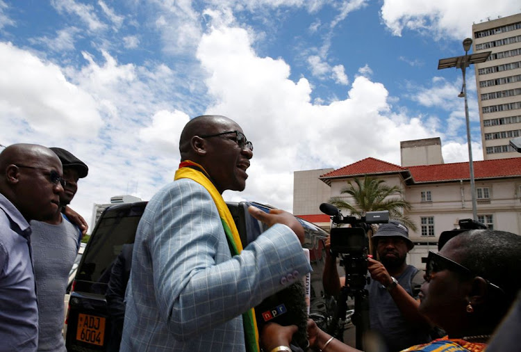 Activist pastor Evan Mawarire speaks to the media after being found not guilty of subversion in Harare, Zimbabwe, on November 29 2017. Picture: REUTERS
