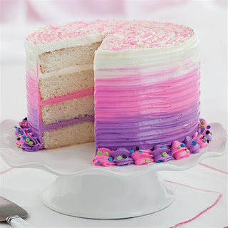 Bold Pink & Purple Ombre Cake.
