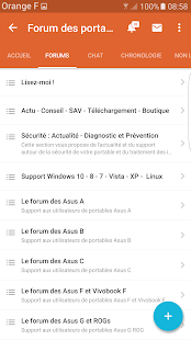 Le forum des portables Asus- screenshot thumbnail