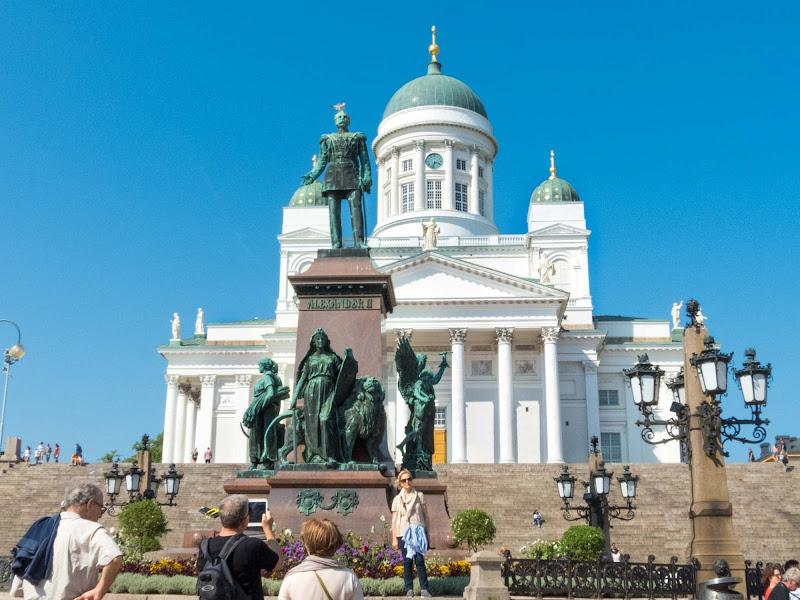 Senate Square, a major tourist attraction, in Helsinki.