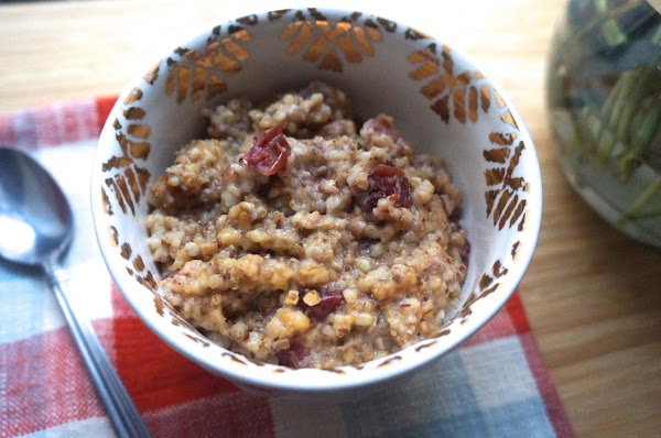 Cranberry And Cider Oats Recipe