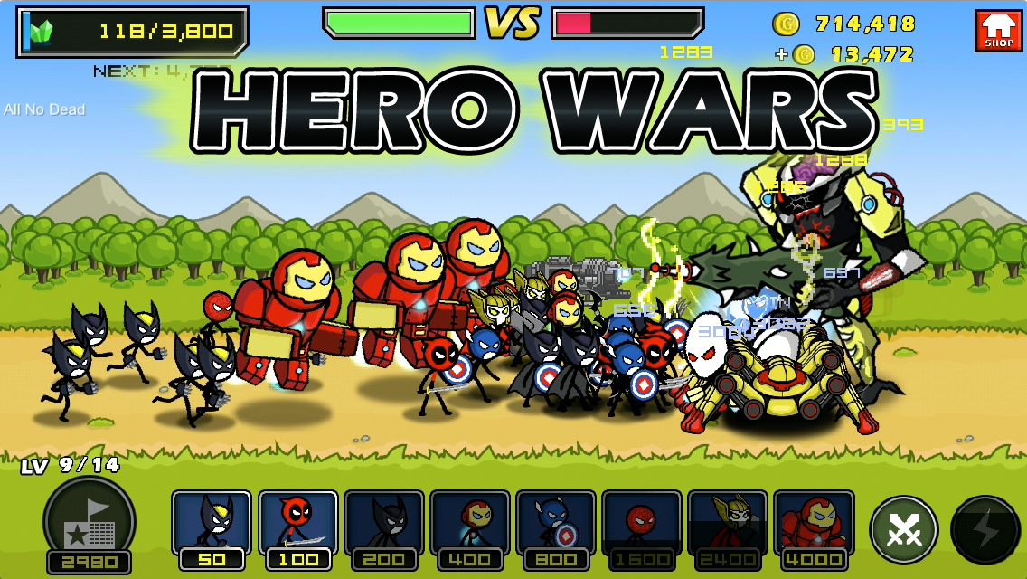 HERO WARS: Super Stickman Defense- screenshot