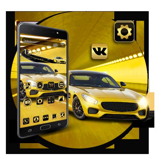 Golden luxury car theme