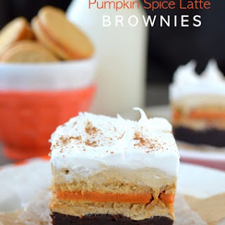 Pumpkin Spice Latte Brownies