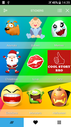 Stickers to share chat