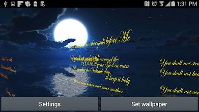 The Ten Commandments 3D LWP screenshot thumbnail