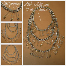 Photo: Simple easy to follow instructions to make your triple chain statement necklace diy http://www.trinketsinbloom.com/wearable-diy/triple-chain-statement-necklace-diy/
