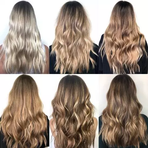 Variety of shadow roots on different hair colors @paintingpretty