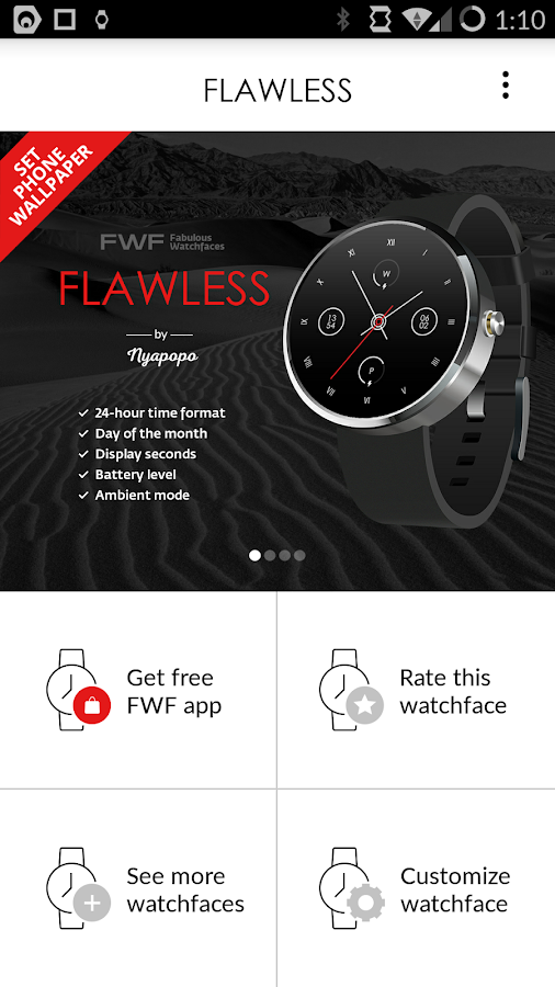 Flawless Analog Watch Face FWF- screenshot