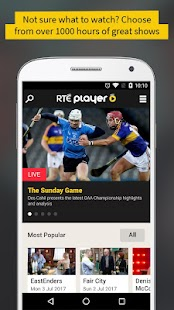 RTÉ Player- screenshot thumbnail