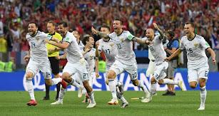 Los jugadores de Rusia eliminaron a España