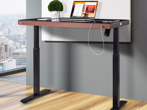 Standing Desk w/ Tempered Glass & Drawer Only $249.98 Shipped on Sam'sClub.com (Regularly $380)