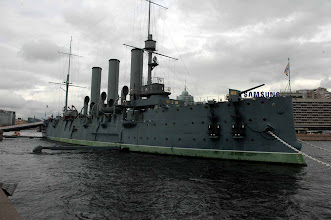 Photo: The good ship Aurora - St. Petersburg, Russia