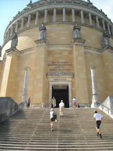 Photo: Befreiungshalle--built by Ludwig I to celebrate the defeat of Napoleon in 1815 and the consolidation of the little pieces that became Germany